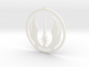 Symbol of the Jedi Order in White Processed Versatile Plastic