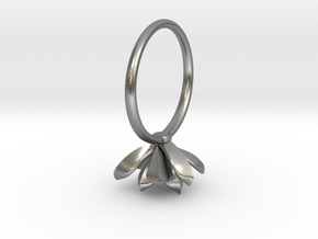 Succulent Stacking Ring No. 3 in Natural Silver: 5 / 49