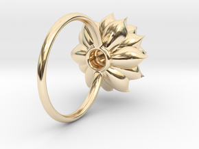 Succulent Stacking Ring No. 5 in 14K Yellow Gold: 5 / 49