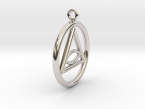 Eye Necklace Small in Platinum