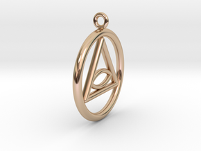 Eye Necklace Small in 14k Rose Gold Plated Brass