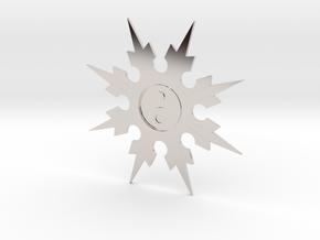 Shuriken 8 Points Throwing Star in Rhodium Plated Brass