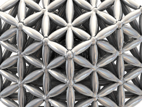 "3-D FLOWER OF LIFE ""META-CUBE"" in Polished Silver"