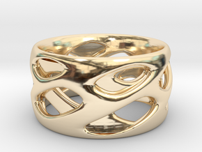Ring Eye in 14k Gold Plated Brass