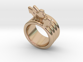 Love Forever Ring 26 - Italian Size 26 in 14k Rose Gold Plated Brass