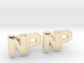 Monogram Cufflinks NP in 14k Gold Plated Brass