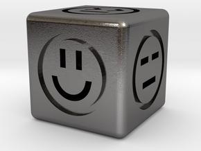 Emotional Dice (6 Sides) in Polished Nickel Steel