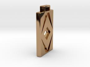 Diamond Cut Pendant in Polished Brass