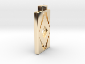 Diamond Cut Pendant in 14k Gold Plated Brass