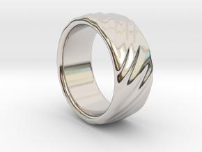 Canvas Ring - 20mm in Platinum