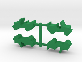 Game Piece, Jeep 4-set in Green Processed Versatile Plastic