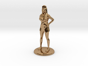 Nurse with Needle - 28 mm version in Polished Brass