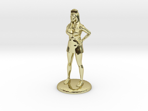 Nurse with Needle - 28 mm version in 18k Gold Plated Brass