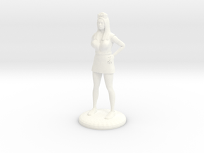 Nurse with Needle - 28 mm version in White Processed Versatile Plastic