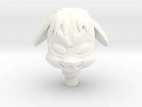 Glyos Lobran Head in White Processed Versatile Plastic
