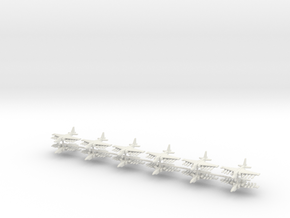 1/550 Su-25 Frogfoot (x12) in White Natural Versatile Plastic