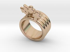 Love Forever Ring 30 - Italian Size 30 in 14k Rose Gold Plated Brass