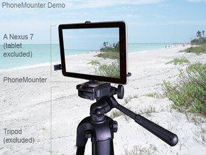 Jolla Tablet tripod & stabilizer mount in Black Natural Versatile Plastic