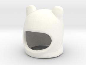 Custom Finn The Human Inspired Hat for Lego in White Processed Versatile Plastic