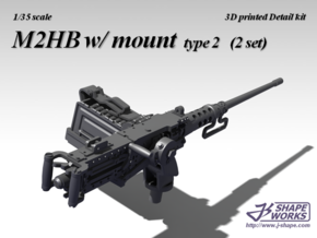 1/35+ M2HB w/ mount type 2 (2 set) in Smoothest Fine Detail Plastic: 1:35