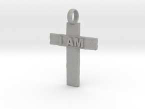 Cross I AM in Aluminum