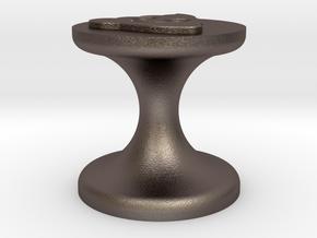 Poop Emoji Seal in Polished Bronzed Silver Steel