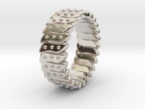 Ø0.699 Inch Fractal Ring Model C Ø17.75 Mm in Rhodium Plated Brass