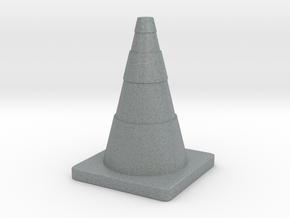 Construction Cone Custom Board Game Piece  in Polished Metallic Plastic