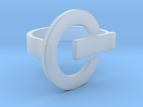 Power Button Ring - 20 mm in Smooth Fine Detail Plastic