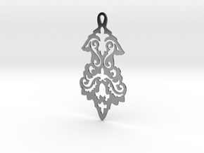 BlakOpal Victorian Flourish Earring in Fine Detail Polished Silver