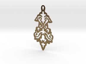 BlakOpal Victorian Flourish Earring in Polished Bronze