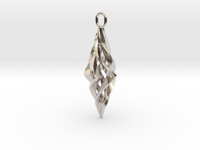 Vision Pendant (small) in Rhodium Plated Brass