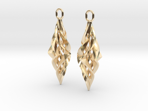Vision Earrings in 14k Gold Plated Brass