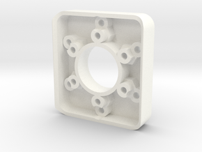 Fanatec 52mm to 70mm 12.7mm Adpater in White Strong & Flexible Polished