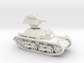 Vickers Light Tank Mk.IIa (28mm - 1/56th scale) in White Natural Versatile Plastic