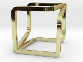 YOUCUBE Charms. Pure Elegance. in 18k Gold Plated Brass