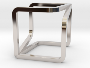 YOUCUBE Charms. Pure Elegance. in Rhodium Plated Brass