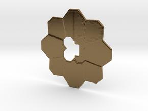 Pokemon badge in Polished Bronze