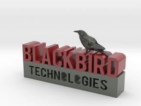 Blackbird Technologies Logo in Glossy Full Color Sandstone