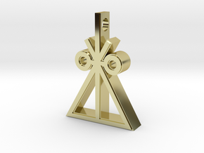 Trilateral Insignia Necklace in 18k Gold Plated