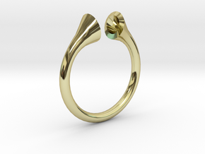 Gramaphonic Sharp Ring, US size 8, d=18 mm in 18k Gold Plated Brass: 8 / 56.75