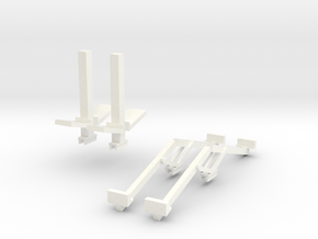 Befort Double header stands in White Processed Versatile Plastic