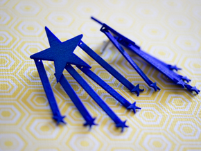 Stars And Stripes Earrings (for Studs) in Blue Strong & Flexible Polished