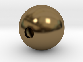 Goofy Bolt Accessories - Sphere 18mm diameter in Polished Bronze