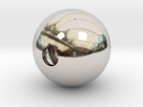 Goofy Bolt Accessories - Sphere 18mm diameter in Rhodium Plated Brass