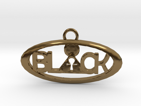 B.L.A.C.K. pendant in Polished Bronze