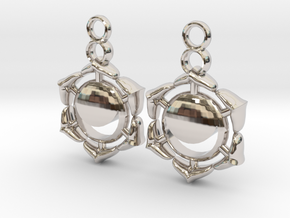 Chakra Swadhisthana Sacral Earrings in Platinum