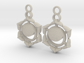 Chakra Swadhisthana Sacral Earrings in Natural Sandstone