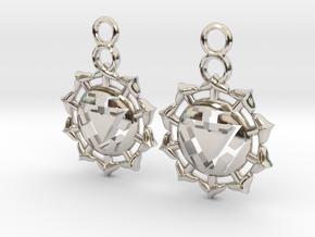 Chakra Manipura Earrings in Platinum
