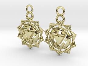 Chakra Manipura Earrings in 18k Gold Plated Brass